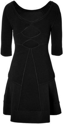 A.L.C. Fit and Flare Paneled Dress