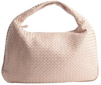 Bottega Veneta powder pink intrecciato leather 'Veneta' large hobo