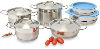 Berghoff Hotel Line 12-Piece Cookware Set with Covered Mixing Bowls