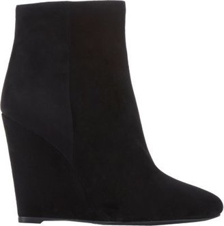 Prada Suede Wedge Ankle Boots