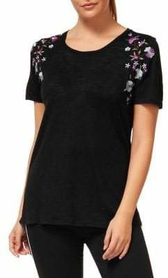 Dex Floral Embroidered Tee