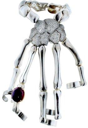 Delfina Delettrez Special Order Skeleton Hand Bracelet