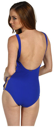 Michael Kors Byzance Solids Cut Out Maillot