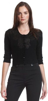 Tracy Reese Lace Applique Cardigan