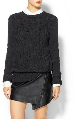 Rachel Zoe Felix Cable Knit Sweater