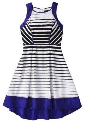 Mossimo Women's Stripe Sleeveless Dress -White/Black