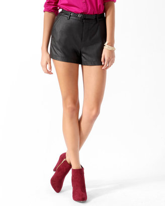 Forever 21 Essential Faux Leather Shorts