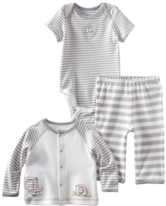 Little Me Baby-Boys Newborn Elephants Take Me Home Sleepwear Set