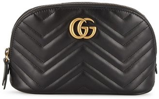 Gucci GG Marmont Black Leather Cosmetics Case