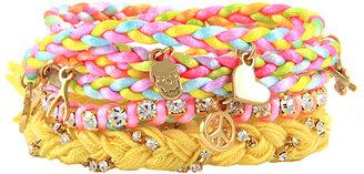 Ettika Pastel Multi Charm Stack Bracelet
