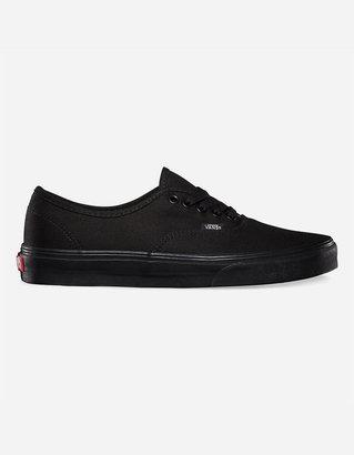 Vans Authentic Black & Black Shoes