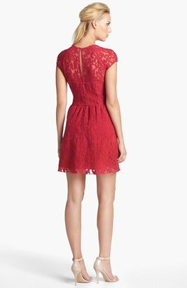 Dolce Vita Embroidered Organza Fit & Flare Dress