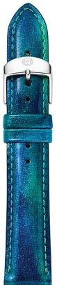 Michele Tidal Blue Fashion Patent Strap, 16mm