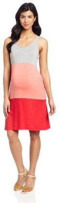 NOM Women's Maternity Sleeveless Tier Dress