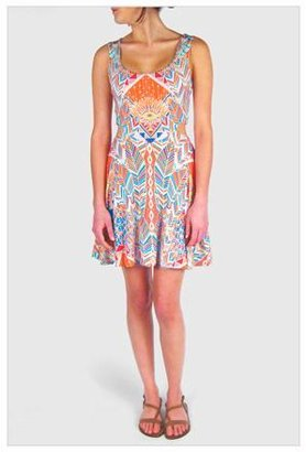 Mara Hoffman Cutout Ballerina Dress in Palms Jersey Print
