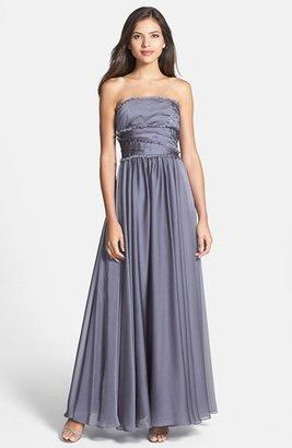 Monique Lhuillier ML Bridesmaids Strapless Chiffon Gown (Nordstrom Exclusive)