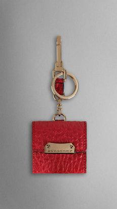 Burberry Signature Grain Leather Photo Frame Key Charm