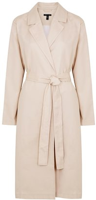 Eileen Fisher Ecru Belted Twill Trench Coat
