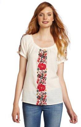 Lucky Brand Women's Desert Floral Peasant Top