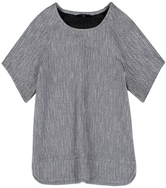 Tibi Herringbone Tweed Easy Top