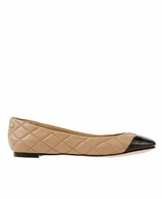 Ann Taylor Laddy Quilted Leather Ballet Flats
