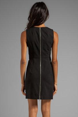 Milly Stretch Super 100's Zipper Sheath Dress