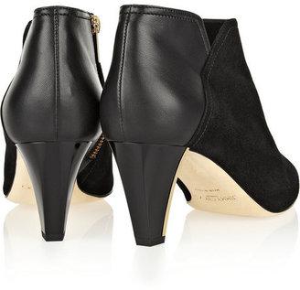 Jimmy Choo Harris suede and leather ankle boots
