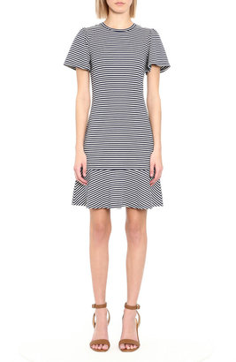 MICHAEL Michael Kors Striped Flutter-Sleeve Dress