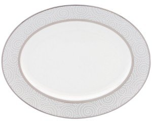 Lenox Closeout! Pearl Beads Oval Platter