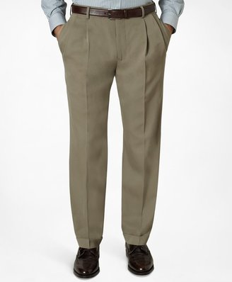 Brooks Brothers Madison Fit Pleat-Front Classic Gabardine Trousers