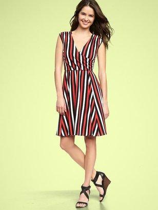 Gap Striped cross-front dress