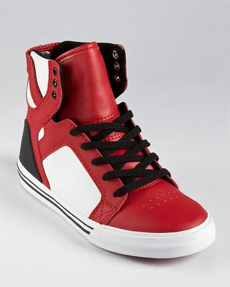 Supra Boys' Red Skytop Sneakers - Toddler, Little Kid