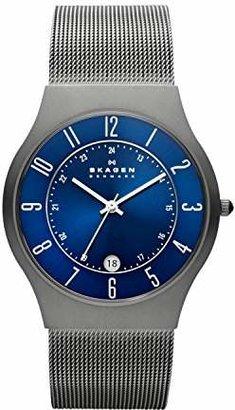 Skagen Men's White Label Titanium Analog-Quartz Watch with Metal Strap