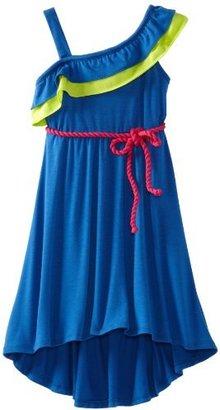 Rare Editions Girls 7-16 Hi-Low Woven Dress