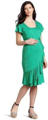 Ripe Maternity Women's Maternity Flounce Nursing Dress