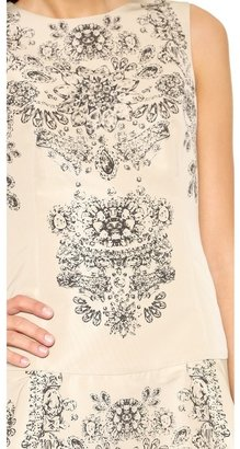 RED Valentino Drop Waist Sleeveless Dress