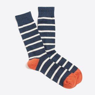 J.Crew Tipped-stripe socks
