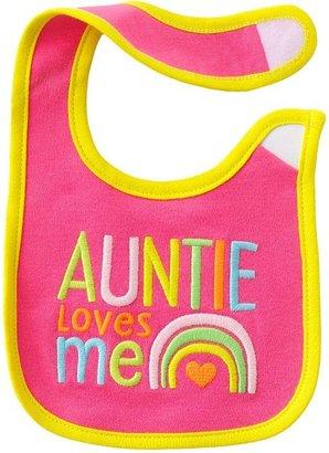 Carter's auntie loves me bib - baby