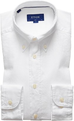 Eton Soft White Royal Oxford Shirt - Slim Fit
