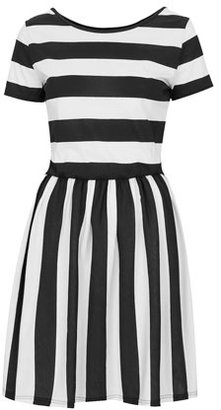 Topshop Tall Stripe Band Back Dress