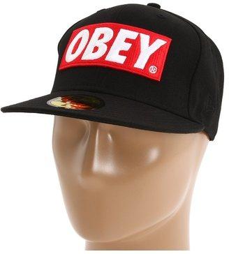 Obey Classic New Era 59FIFTY Hat (Black) - Hats