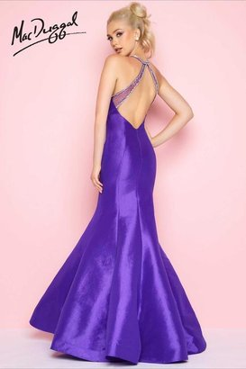 Mac Duggal Flash - 66135 High Neck Gown In Deep Purple