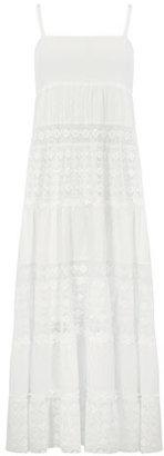 Dorothy Perkins White textured maxi dress