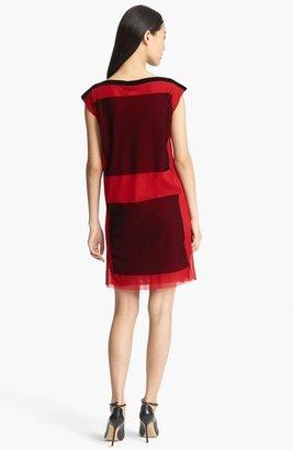 Jean Paul Gaultier Fuzzi Cap Sleeve Tulle Dress