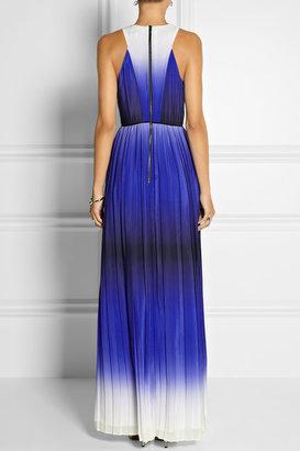 Milly Degradé silk-georgette gown