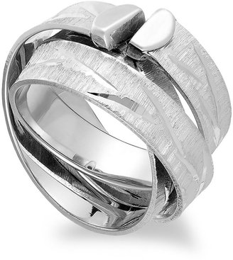 The Fifth Season by Roberto Coin Sterling Silver Ring, Flat Diamond-Cut Ring