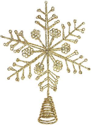 Gisela Graham - Glitter Wire Snowflake Tree Topper - Gold