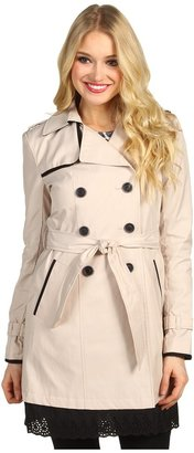 Ivanka Trump Double Eyelet Hem Trench Women's Coat