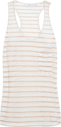 A.L.C. Striped stretch-jersey tank