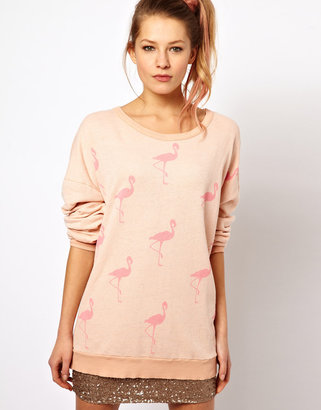 Wildfox Couture Flamingo Sweater